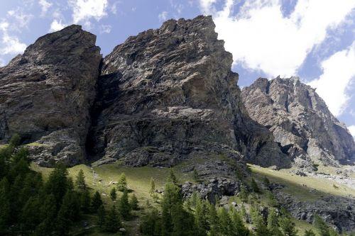 mountains evening valle d'aosta