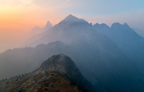 mountains view ridge
