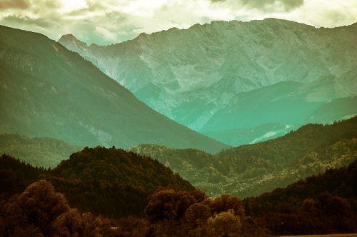 mountains alpine wetterstein mountains