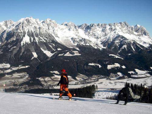 mountains snowboard austria