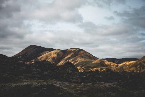 mountains landscape retro