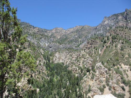 mountainside utah rock