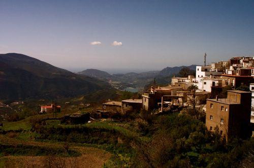 mountainside village mountains