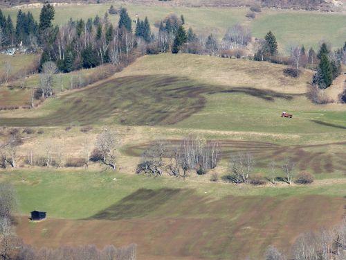 mountainside fertilization landscape painter