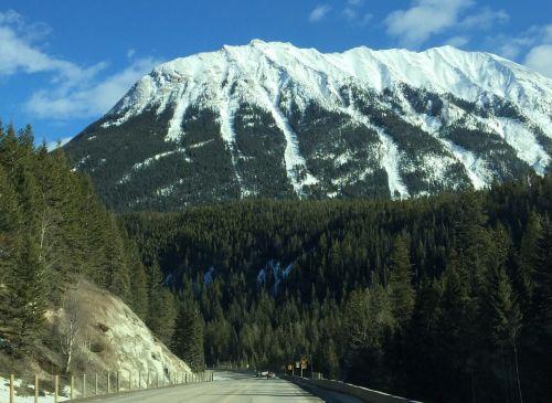 mountaintop snow landscape