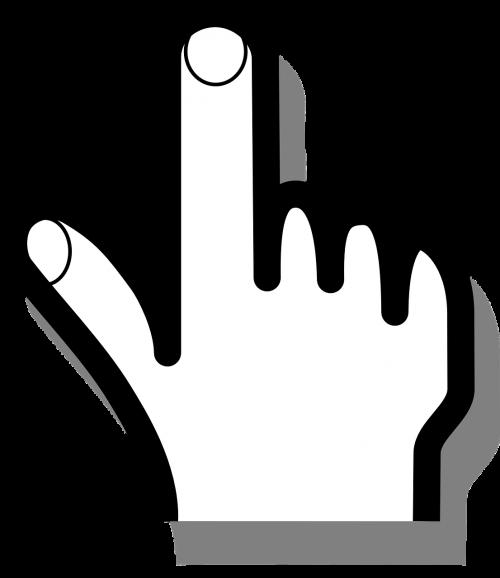 mouse pointer hand finger