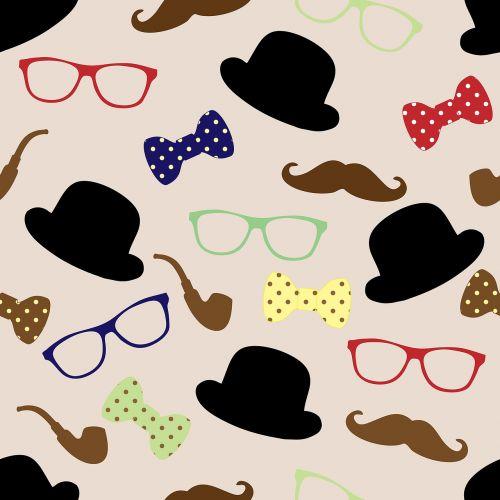 moustache hat bowler
