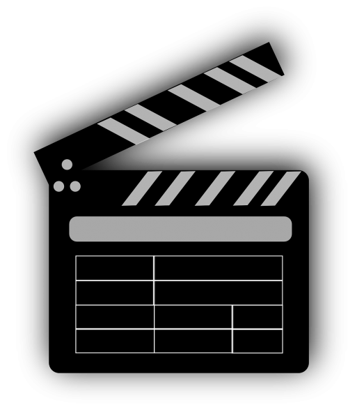 movie clapper board director