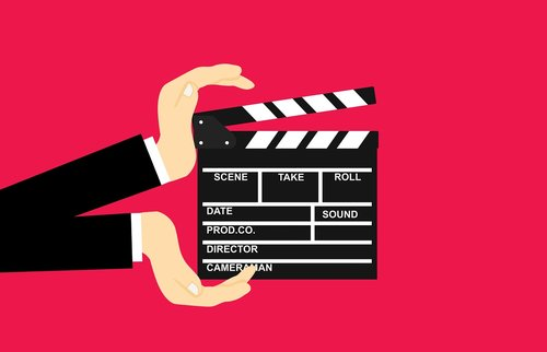 movie  clapperboard  hands