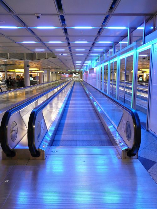 moving walkway roller platform treadmill