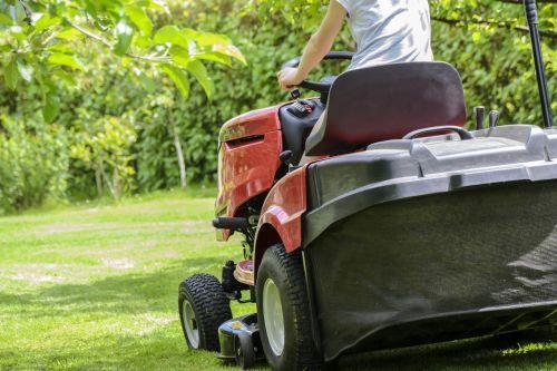 mowing the grass garden work lawn