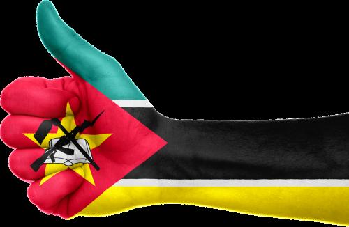 mozambique hand flag