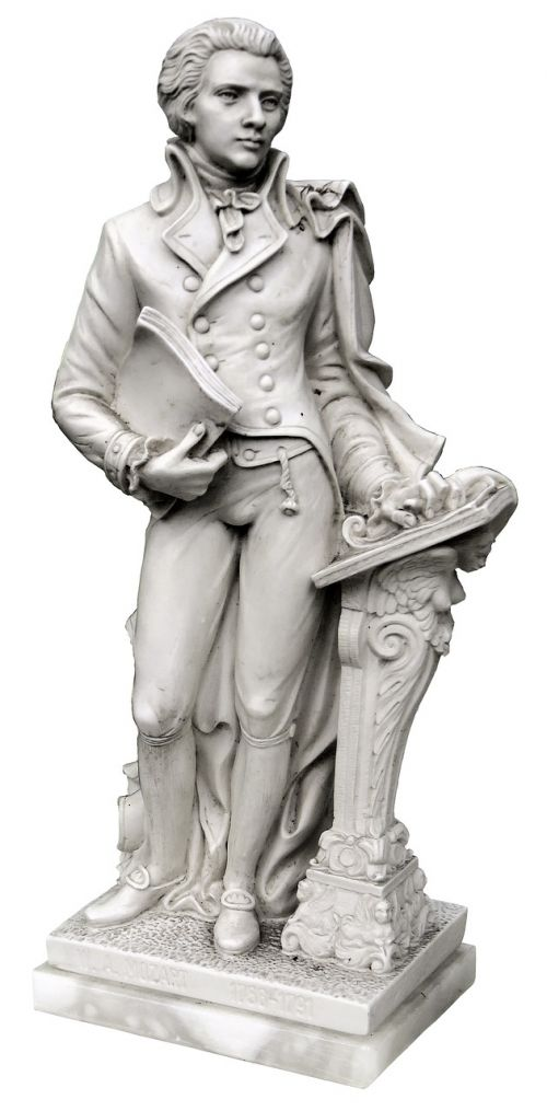 mozart figure marble