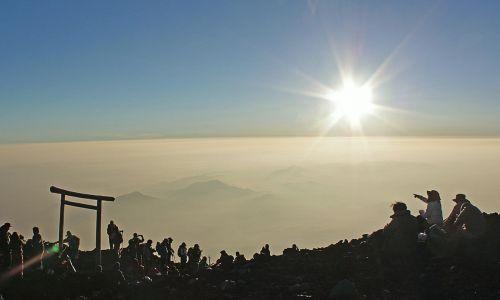 mt fuji the sunrise mountain
