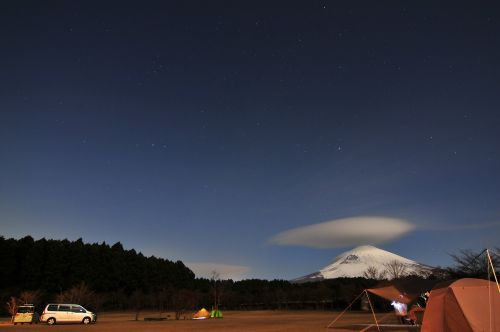 mt fuji night camping