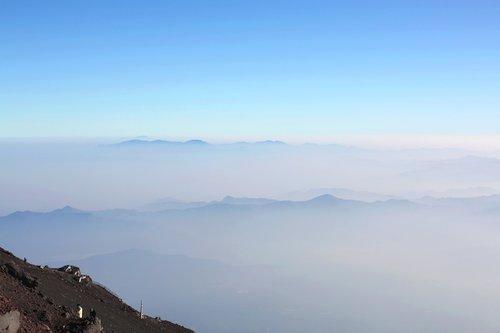 mt fuji  summer  mountain climbing