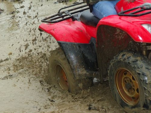 mud dirt 4-wheeler