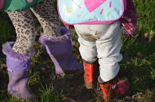 mud children wellies