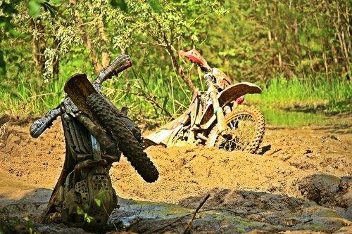 mud  motocross  bike