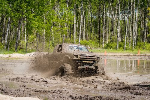 mud bog truck dirty