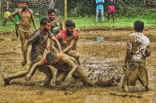 mud football kerala monsoon