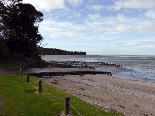 mudflats beach low tide