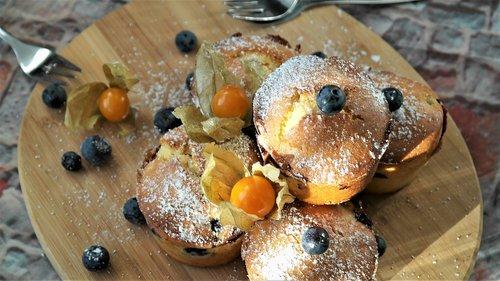muffins  blueberries  dessert