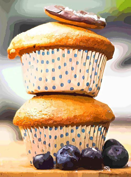 Muffins Illustration