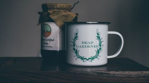 mug wooden table