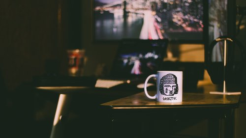 mug  coffee  desk