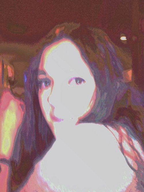 portretas, moteris, žiūri, žmonės, troškimas, išraiška, meilė, veidas, lengvas & nbsp, efektas, rožinis, raudona, balta & nbsp, violetinė, moteris