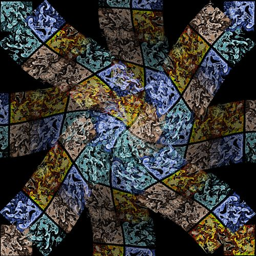 multi-color tile twirl