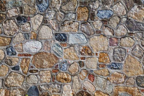 Multi Color Stones Wall