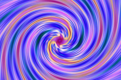 Multi-coloured Swirl