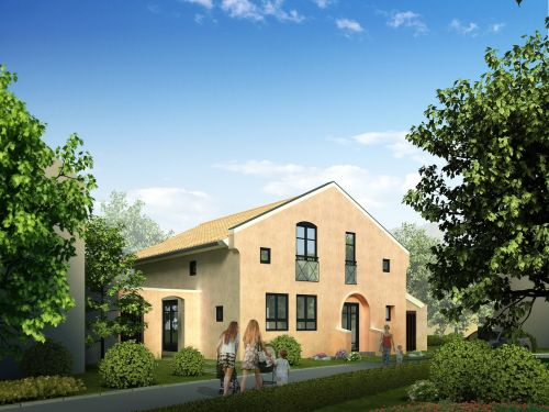 multi-family home villa rendering