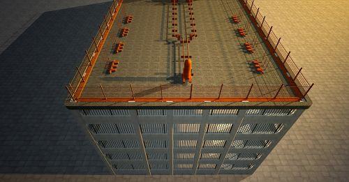 multi storey car park parking level view