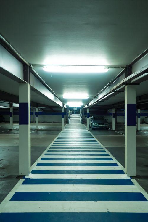 multi storey car park zebra crossing park