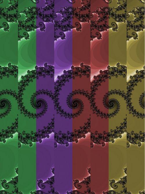 Multicolor Fractal Pattern