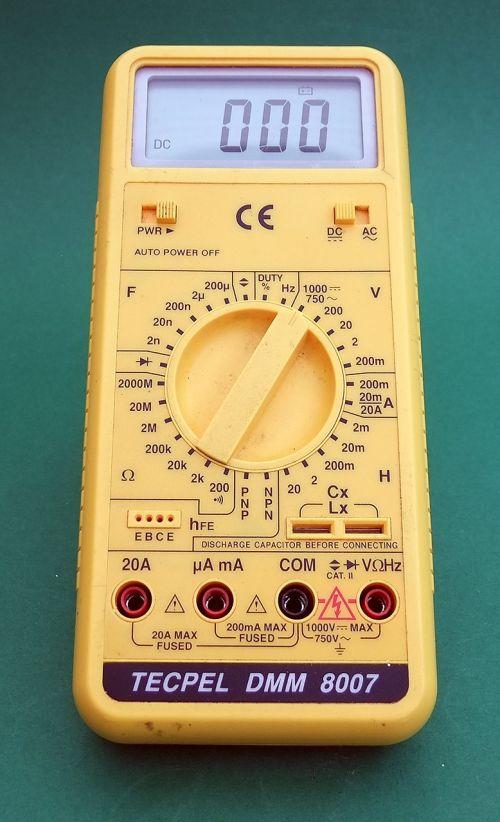 multimeter electrical testing