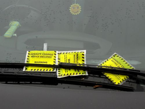 Multiple Parking Tickets On Car