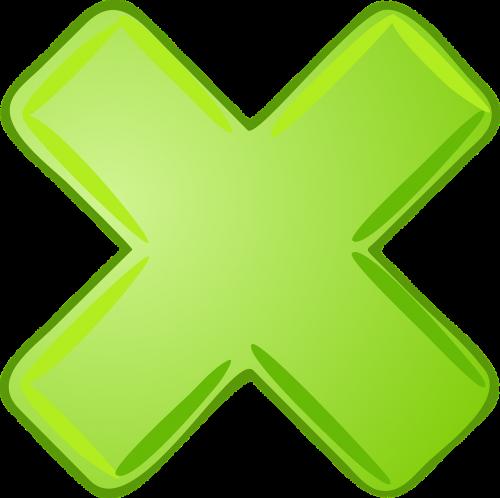 multiply x cancel