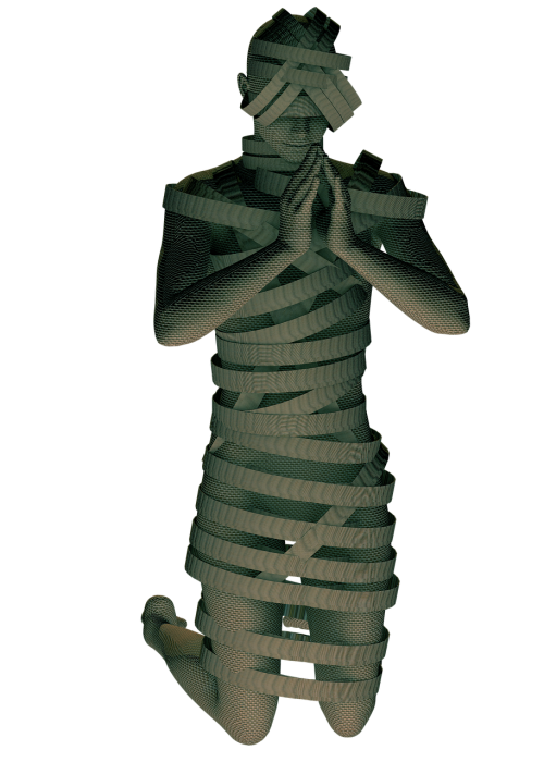 mummy pray bandage