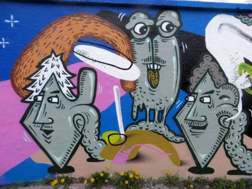 grafftiy sprayer art
