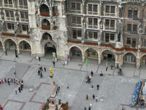 munich marienplatz city