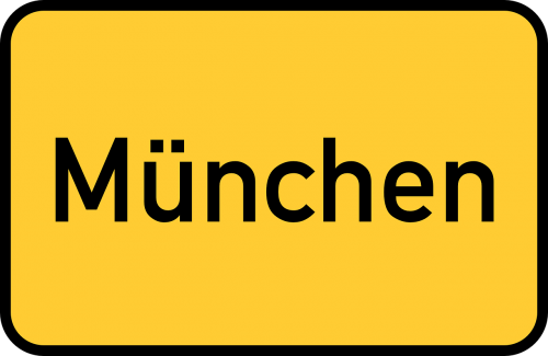 munich town sign city limits sign
