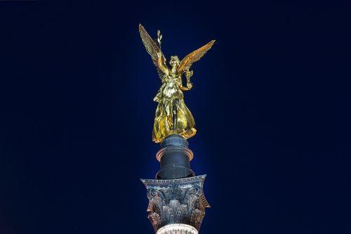 munich angel of peace munich night