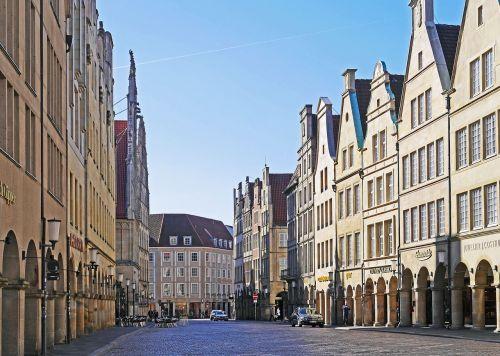 münster principal market gabled houses