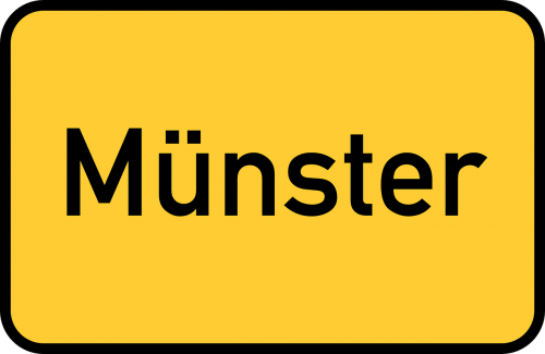münster town sign city limits sign