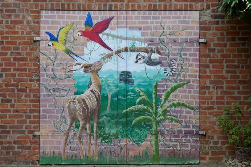 mural hauswand türgemälde