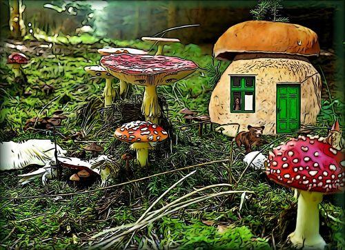 fairy tales mural comic
